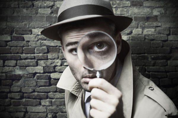 拡大鏡を探して面白いビンテージ探偵